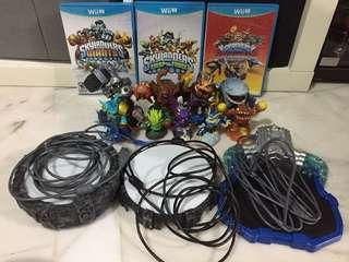 Nintendo Wii U Skylanders Bundle Superchargers Trap Team Swap Force Giants Portal