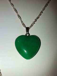 Afghanistan green jade an necklace