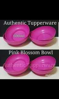 Instock Authentic Tupperware  Pink Blossom Bowl 600ml (4) 15.7cm (D) × 5.2cm (H) 《Retail Price S$16.80/Set》 pink or peach