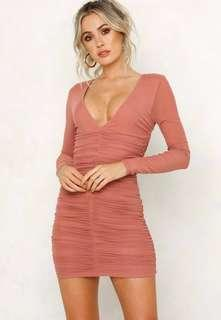 Hello Molly ruched bodycon dress