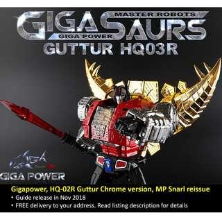 [Preorder] Gigapower, HQ-03R Guttur Chrome version, MP Snarl (Reissue)