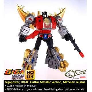 [Preorder] Gigapower, HQ-03 Guttur Metallic version, MP Snarl (Reissue)