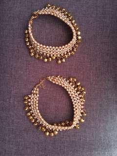 Indian Jewelry - Bridal Kundan design Anklets