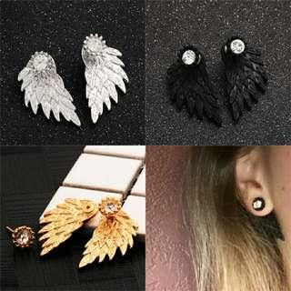 Gothic cool angel wings earrings for woman's fashion
