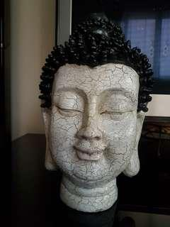 Buddha Head crack finished white