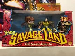 Vintage 90s toybiz xmen savageland wolverine set