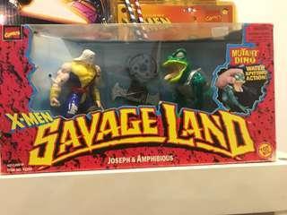 Vintage 90s toybiz savageland joseph set
