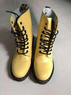 Authentic Dr Martens Clemency Boots Yellow