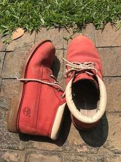 Women's Timberland Ankle Boots Water Proof & Anti Fatigue in Classic Red size 39