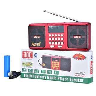 JOC FM Radio/ Music Player Speaker with Bluetooth Function