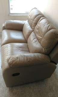 Rosenlew 兩座位真皮彈較梳化 Sofa