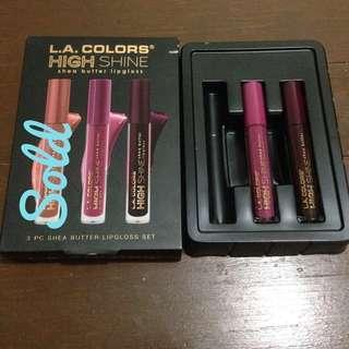 L.A. Colors Shea Butter Lipgloss