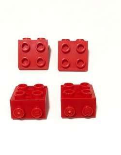 Lego Bricks G84 Red New (4pc)