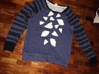 blue hearts cotton long sleeves