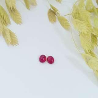 6.05 cwt Bright Red Cabochon Rubies