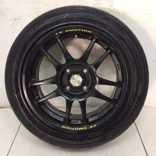 "15"" Sports Rim With Tyres 4x100 (SR1357)"