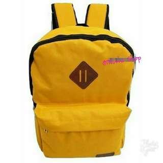 Tas Ransel Sekolah Kuliah Backpack Grab B Kuning Include Rain Coat