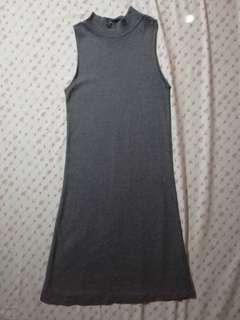 Knitted high neck dress