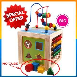 ⭐NO 4pcs Cube⭐5 in 1 Learning cube / Bead Maze & Activity Table Learning Education