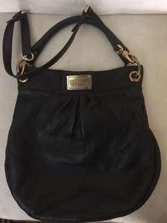 TURUN HARGA Marc Jacobs - classic huge hillier black leather