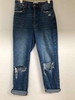 A brand blue jeans