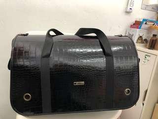Pet carrier faux leather