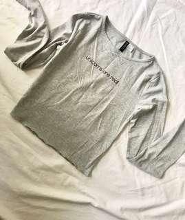 H&M Longsleeves crop top