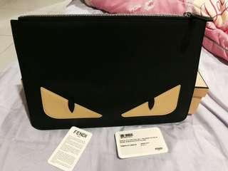 💯Authentic Fendi Monster Clutch Bag