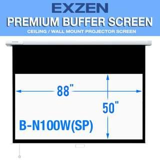 "[EXZEN] 100"" 16:9 Premium Buffer Projector Screen"