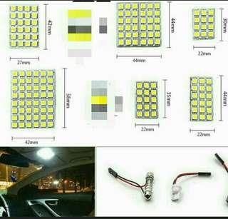 12V Universal Car 12/15/18/24/36/48 SMD 5050 LED T10 BA9S Dome Festoon Car Interior Light Panel Lamp White Accessories