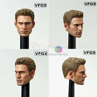 1/6 Scale Captain America Steve Roger  VF03 - Head Sculpt of Movie Star VFToys