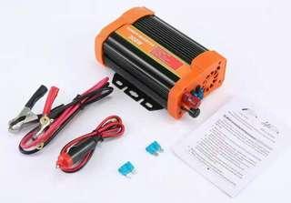 (1149) Womdee 300W Power Inverter DC 12V 24V To 110V 220V AC Converter With 2.1A USB Car Charger Adapter (Orange