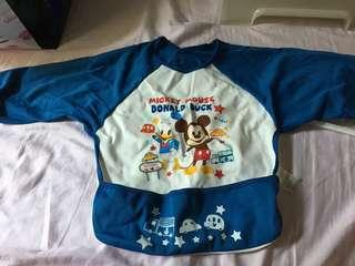全新長袖米奇Donald Mickey 食飯衫防污衫