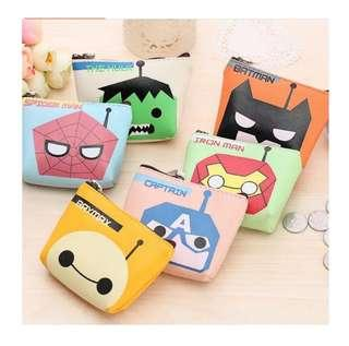 (3 For $10) Marvel / Baymax Coin Pouch