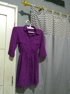 Tunik kemeja warna ungu