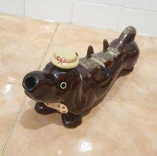 vintage ceramic dog figurine