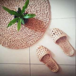 CatGrass Japanese Countryside Homemade Home Slippers