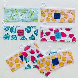Pencil case fruits design
