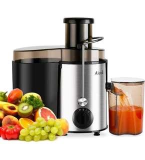 (1153) Aicok Juicer Juice Extractor High Speed for Fruit and Vegetables Dual Speed Setting Centrifugal Fruit Machine Powerful 400 Watt with Juice Jug and Cleaning Brush, Premium Food Grade Stainless