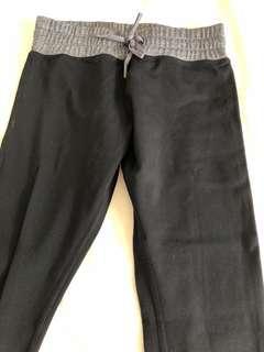 New Authentic Lorna Jane xs black grey tights 7/8 length