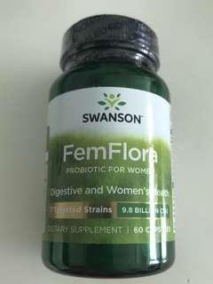 SWANSON SWU534 Swanson FemFlora 女性專用益生菌升級配方 60粒 (98億活性菌體) $90 優惠價
