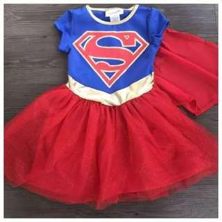 IN STOCK Supergirl dress Supergirl costume girl superhero costume superhero dress children's day costume Halloween costume