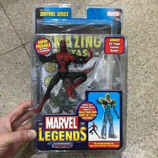 MOC Marvel Legends Sentinel Series 1st Appearance Spider-Man (BAF First Spiderman Classics SMC Avengers Infinity War Select)