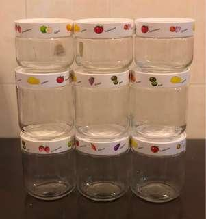 9 sets GIKEN - Air Seal Glass Containers