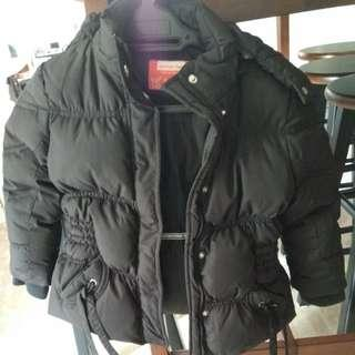 Girl winter time jacket