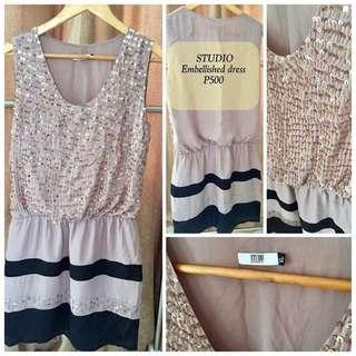 STUDIO Embellished Dress Slightly Used