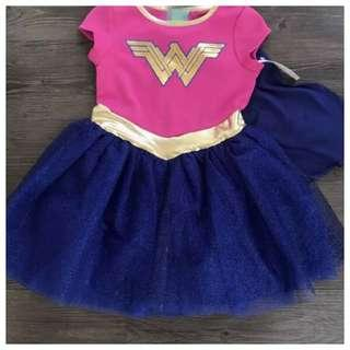 IN STOCK Kids Wonderwoman costume Wonderwoman dress girl superhero costume superhero dress children's day costume Halloween costume