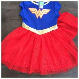 IN STOCK Kids Wonderwoman costume Wonderwoman dress girl superhero costume kids superhero children's day costume Halloween costume