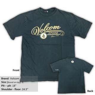 Original preloved volcom black t shirt