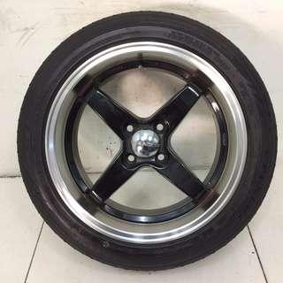 "16"" Lenzo Sports Rim With Tyres 4x100 (SR1361)"